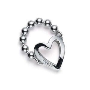 Gucci Sterling Silver Toggle Heart Ring NIB